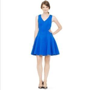 Club Monaco Blue Scuba Neoprene Fit & Flare Dress